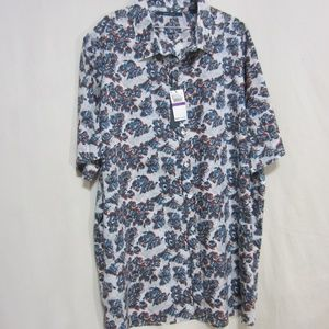 MENS NWT PERRY ELLIS ABSTRACT SIZE 2X SHIRT